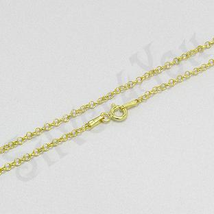 Lant argint aurit 18k subtire 40 mm/2 mm - PK1327