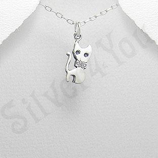 Pandantiv argint pisica aristocrata - PK1268