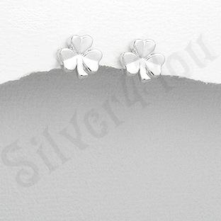 Cercei argint trifoi mici - PK2536
