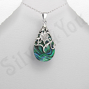 Pandantiv argint lacrima abalone - PK2497