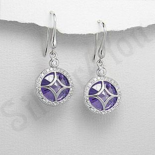 Cercei argint cu zirconii - PF8020