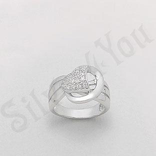 Inel argint zircon alb aspect aur alb - PK1301