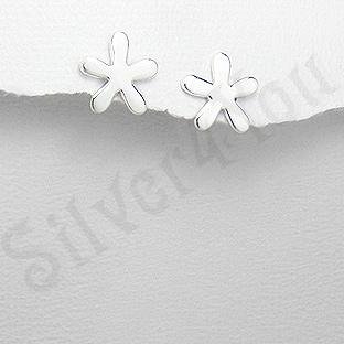 Cercei argint floare stea mica - PK1886