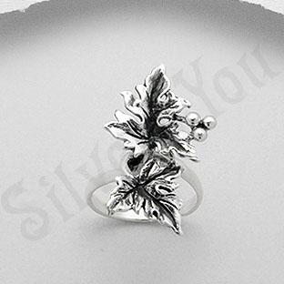Inel argint frunze - PK1292