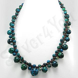 Colier cu turcoaz si cristale - PK1443