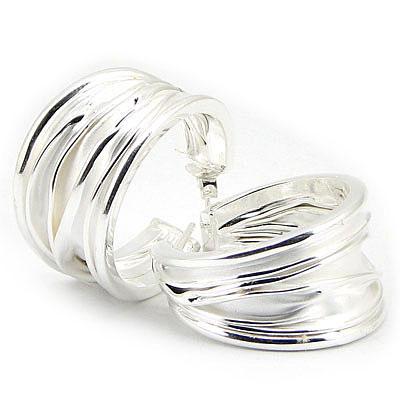 Cercei argint creponat - CO3