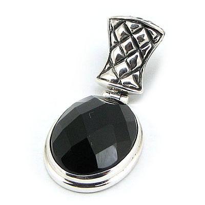 Pandantiv argint cu onix - PK38