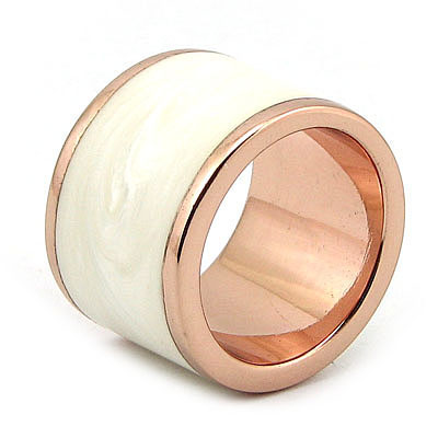 Inel argint aurit cu aur roz si sidef - IK61