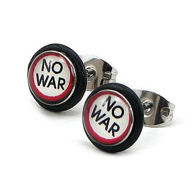 "Cercei inox ""No War"" - CF90"