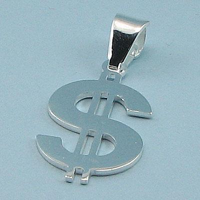 Pandantiv argint model dolar - PT3