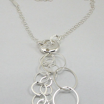 Lant argint cu pandantive lungi - LS422