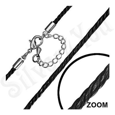 Lant fashion siret negru impletit - PK2097