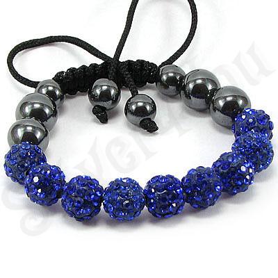Bratara shamballa cristale albastre - BR6001
