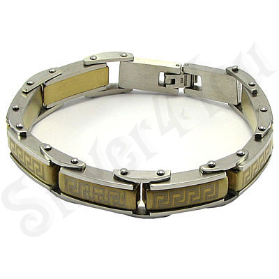 Bratara inox cu portiuni aurite - BR6099