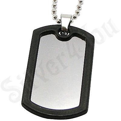 Pandantiv inox si lant militar - BR6342