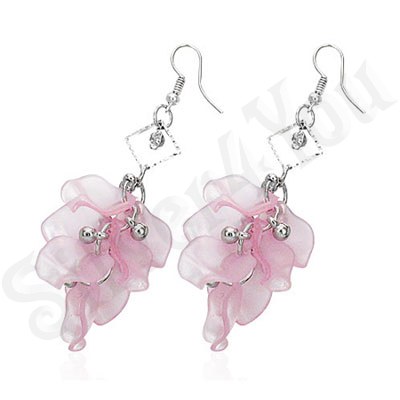 Cercei fashion roz - BF1181