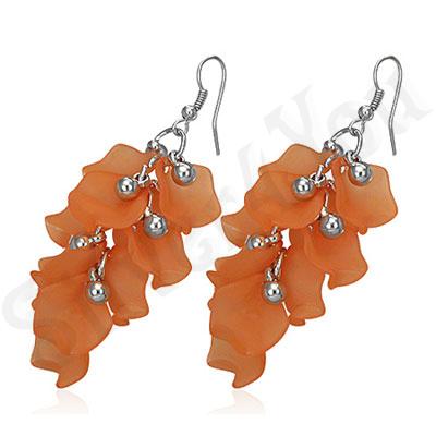 Cercei fashion portocalii supradimensionati - BF1204