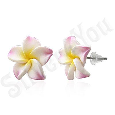 Cercei floare plumeria - BF1232