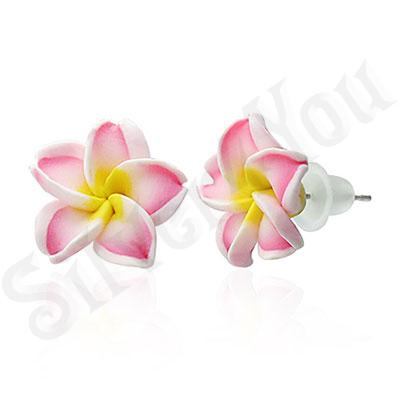 Cercei floare plumeria - BF6221