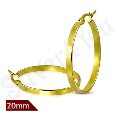 Cercei inox lucrati in culoarea aurului - LR5079