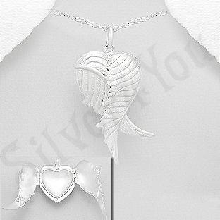 Pandantiv argint casetuta aripi inger - AR196