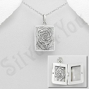 AR202 - Pandantiv argint casetuta floare