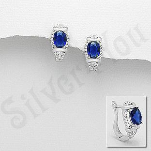 Cercei argint cu zirconiu albastru - AR115