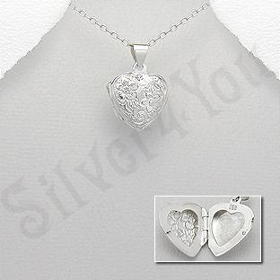 Pandantiv argint inimioara casetuta - AR315