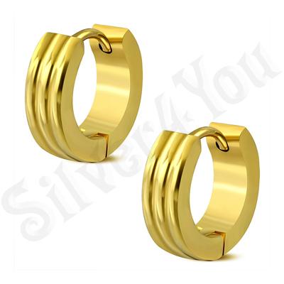 Cercei inox aurii mici cu model - ST119