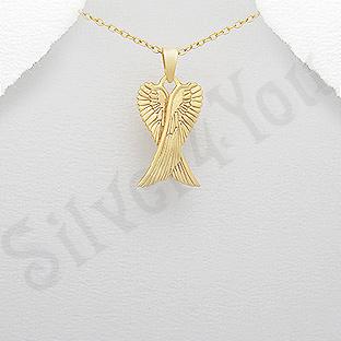 Pandantiv argint aurit aripi de inger - AR340
