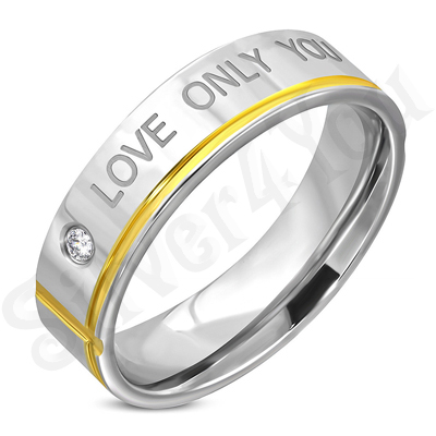 "Inel inox ""love only you"" - LR103"
