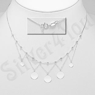 Colier argint cu banuti - AS125
