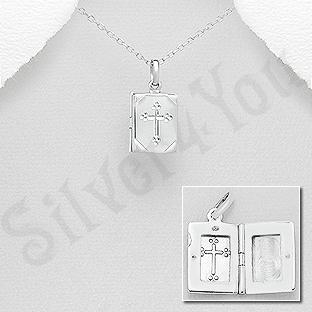 Pandantiv argint casetuta cu cruce - AS144