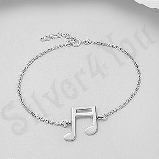 Bratara argint cu nota muzicala - AS148