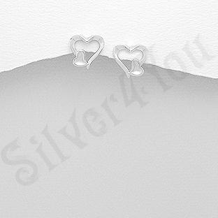 Cercei argint inimioare mici - AS151