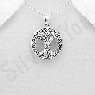 Pandantiv argint patinat copacul vietii - AS138