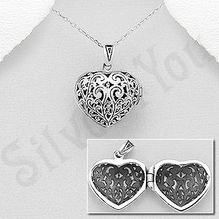 Pandantiv argint casetuta inima - AS155