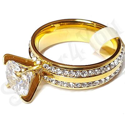Inel logodna cu zirconii albe - Superb - LR349