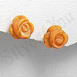 Cercei argint trandafiras portocaliu - PF4140