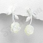 Cercei argint cu trandafir - PF8014