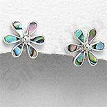 Cercei argint mici floare abalone - PK1346