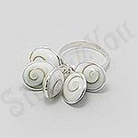 Inel argint cu scoica shiva - BF3079