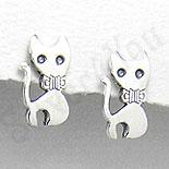 Cercei argint pisicuta mica - PK1189