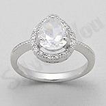 Inel argint logodna zirconii albe aspect aur alb - PK2023