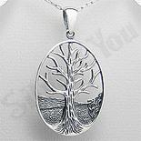 Pandantiv argint oval copacul vietii - PK1977