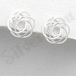 Cercei argint floare cercuri intersectate - PK1894