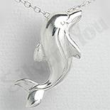 Pandantiv argint delfin indragostit - PK1337
