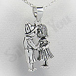 Pandantiv argint indragostiti - PF4070