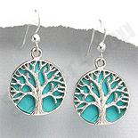 Cercei argint copacul vietii turcuaz bleu - PK1906