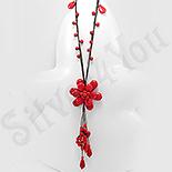 Colier fantezie floare rosie din coral - PK1495